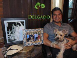 Family and Coco pic with Delgado Logo 300x225 - Manny Delgado with Delgado Insurance